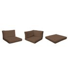 Belle 14 Piece Outdoor Cushion Set Fabric: Cocoa