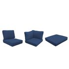 Eldredge Outdoor 16 Piece Lounge Chair Cushion Set Fabric: Navy