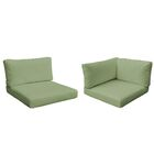 Monterey Outdoor 12 Piece Lounge Chair Cushion Set Fabric: Cilantro