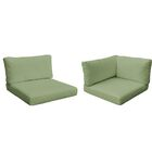 Monterey Outdoor 14 Piece Lounge Chair Cushion Set Fabric: Cilantro