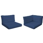 Monaco Outdoor 8 Piece Lounge Chair Cushion Set Fabric: Navy