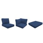Capecod 16 Piece Outdoor Lounge Chair Cushion Set Fabric: Navy