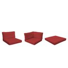 Monterey Outdoor 12 Piece Lounge Chair Cushion Set Fabric: Terracotta