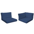 Monterey Outdoor 16 Piece Lounge Chair Cushion Set Fabric: Navy