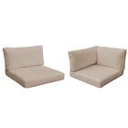 Monterey Outdoor 16 Piece Lounge Chair Cushion Set Fabric: Wheat