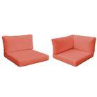 Monaco Outdoor 14 Piece Lounge Chair Cushion Set Fabric: Tangerine