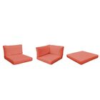 Belle 23 Piece Outdoor Lounge Chair Cushion Set Fabric: Tangerine