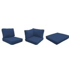 Eldredge 14 Piece Outdoor Cushion Set Fabric: Navy