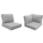 East Village 15 Piece Outdoor Cushion Set Fabric: Gray