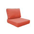 Fairmont 10 Piece Outdoor Lounge Chair Cushion Set Fabric: Tangerine