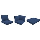 Capecod 21 Piece Outdoor Lounge Chair Cushion Set Fabric: Navy