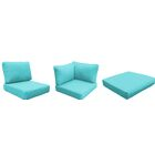 Fairmont 12 Piece Outdoor�Lounge Chair Cushion Set Fabric: Aruba