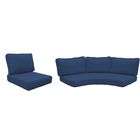 Fairmont 14 Piece Outdoor�Lounge Chair Cushion Set Fabric: Navy