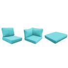 Eldredge Outdoor 12 Piece Lounge Chair Cushion Set Fabric: Aruba