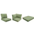 Eldredge Outdoor 12 Piece Lounge Chair Cushion Set Fabric: Cilantro