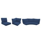 East Village 14 Piece Outdoor Cushion Set Fabric: Navy