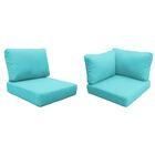 Capecod Outdoor Replacement Cushion Set Fabric: Aruba