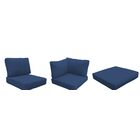 East Village Outdoor 25 Piece Lounge Chair Cushion Set Fabric: Navy