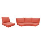 Fairmont 10 Piece Outdoor�Lounge Chair Cushion Set Fabric: Tangerine