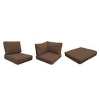Fairmont Outdoor 23 Piece Lounge Chair Cushion Set Fabric: Cocoa
