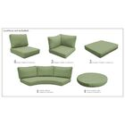 East Village 21 Piece Indoor/Outdoor High Back Cushion Cover Set Fabric: Cilantro