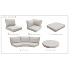 East Village 22 Piece Indoor/Outdoor High Back Cushion Cover Set Fabric: Beige