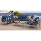 Carlisle 8 Piece Outdoor Sectional Set with Cushions Cushion Color: Navy