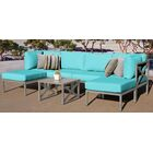 Carlisle 7 Piece Outdoor Sectional Set with Cushions Cushion Color: Aruba