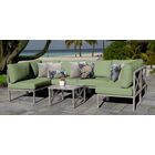 Carlisle 7 Piece Outdoor Sectional Set with Cushions Cushion Color: Cilantro