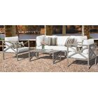 Carlisle 6 Piece Outdoor Sectional Set with Cushions Cushion Color: White