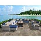 Ansonia 17 Piece Sectional Set with Cushions Cushion Color: Navy