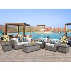 Florence 7 Piece Sofa Set with Cushions Fabric: White