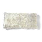 Alpaca Lumbar Pillow Color: Ivory