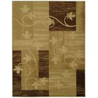 Hinson Contemporary Floral Boxes Ivory/Beige Area Rug Rug Size: 7'10
