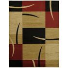 Pasha Maxy Home Contemporary Boxes Red/Ivory Area Rug Rug Size: 7'10