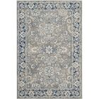 Harwood Power Loom Cotton Gray/Blue Area Rug Rug Size: Rectangle 9' x 12'