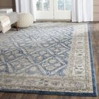 Sofia Power Loom Blue/Beige Area Rug Rug Size: Square 6'7