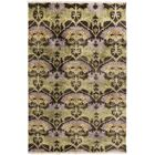 Pritchard Hand-Knotted Brown/Green Area Rug Rug Size: Rectangle 2' x 3'