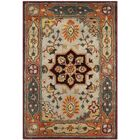 Heine Hand-Tufted Wool Orange/Beige Area Rug Rug Size: Runner 2'6