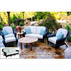 Fleischmann 6 Piece Sofa Set with Cushions Fabric: Rave Spearmint, Wicker Color: Tortoise