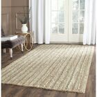 Bergeson Hand-Woven Sage/Natural Area Rug Rug Size: Square 6'