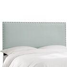 Aldan Upholstered Panel Headboard Size: Full, Upholstery: Velvet Pool