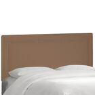 Albertina Upholstered Panel Headboard Size: Twin, Upholstery: Velvet Cocoa
