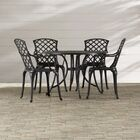 Lomax 5 Piece Dining Set Table Size: 48