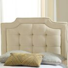 Findlay Upholstered Panel Headboard Size: King, Color: White