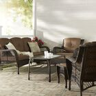 Herrin 6 Piece Rattan Sofa Set with Cushions Frame Color: Espresso, Fabric: Turquoise