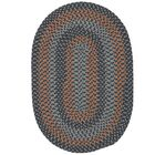 Charleston Hand-Woven Wool Gray/Brown Area Rug Rug Size: Round 4'