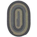 Charleston Hand-Woven Wool Gray Area Rug Rug Size: Oval 8' x 11'
