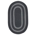 Westfield Hand-Woven Charcoal Area Rug Rug Size: Oval 8' x 11'