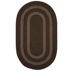 Westfield Hand-Woven Wool Brown Area Rug Rug Size: Round 6'